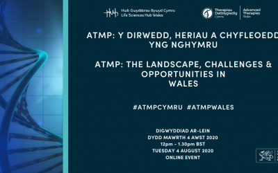 "Vabilo na online event ATMP: ""The Landscape, Challenges & Opportunities in Wales"""