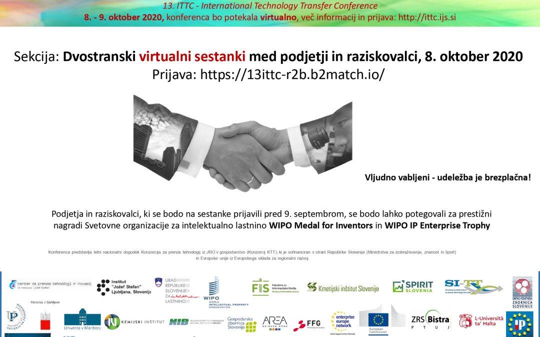 13. mednarodna konferenca o prenosu tehnologij bo potekala virtualno