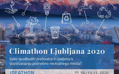 Climathon Ljubljana 2020; 10. 11. – 13. 11. 2020