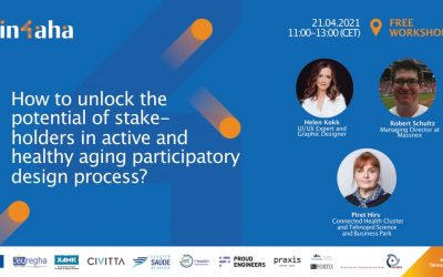 Invitation to the IN-4-AHA workshop: How to unlock the potential of stakeholders in active and healthy aging participatory design process?