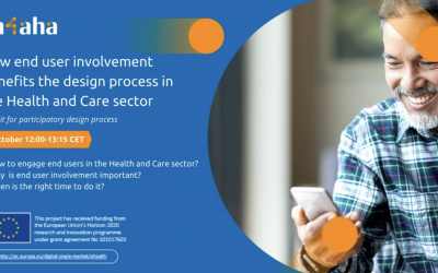 Delavnica IN-4-AHA: How end user involvement benefits the design process in the Health and Care sector?, 05. 10. 2021